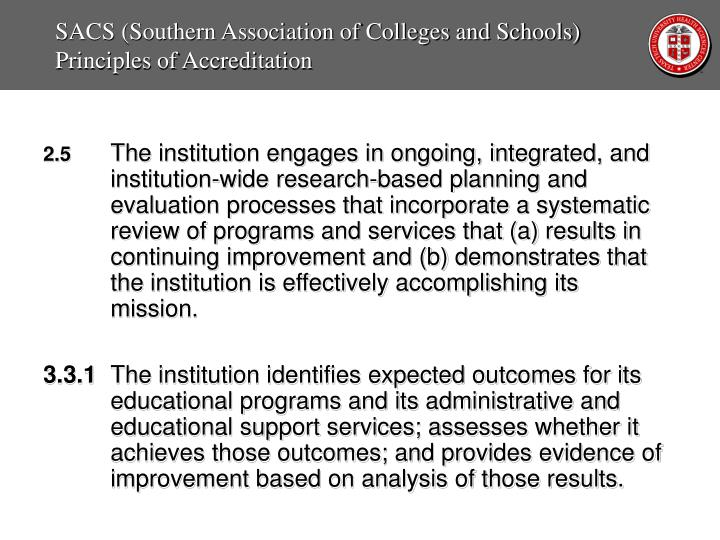SACS (Southern Association of Colleges and Schools)