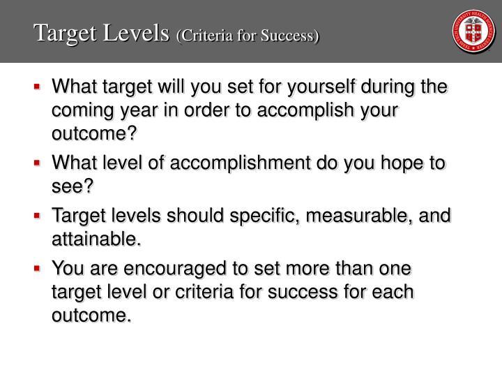 Target Levels
