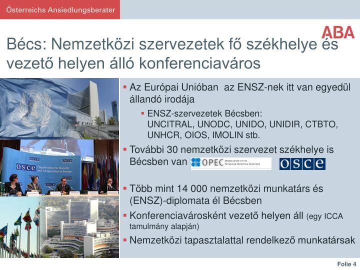 Bécs: Nemzetközi szervezetek f
