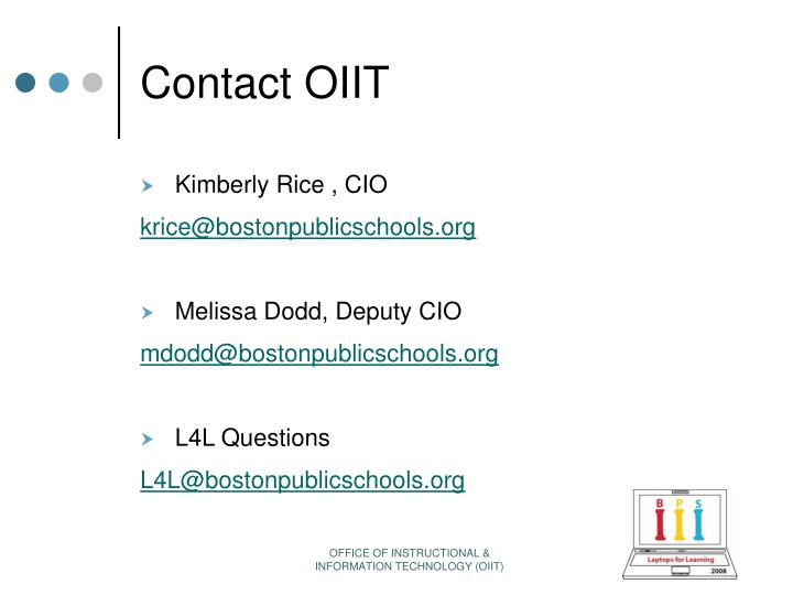 Contact OIIT