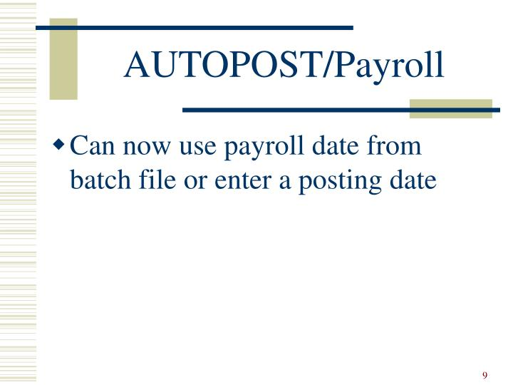 AUTOPOST/Payroll