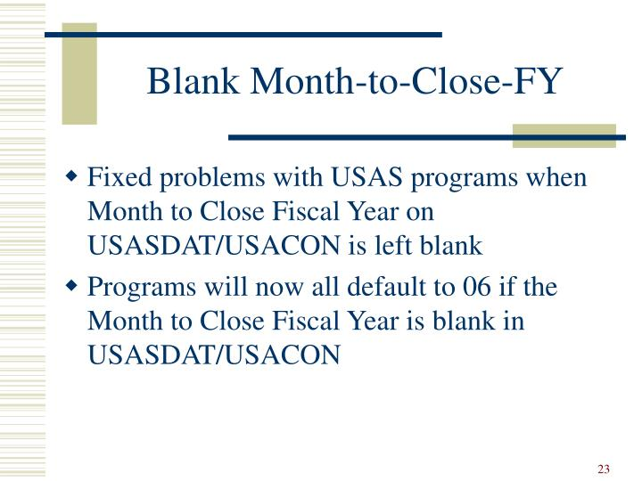 Blank Month-to-Close-FY