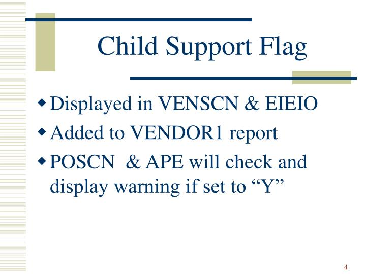 Child Support Flag