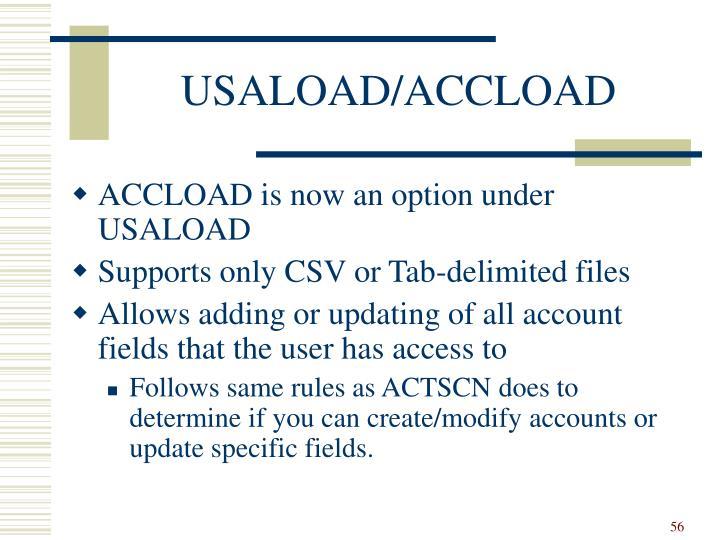 USALOAD/ACCLOAD