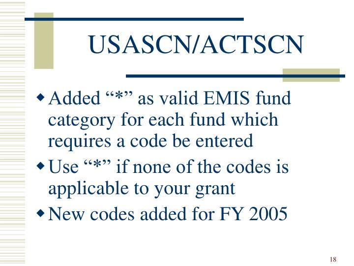 USASCN/ACTSCN