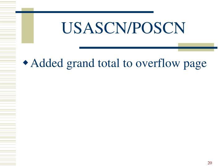USASCN/POSCN