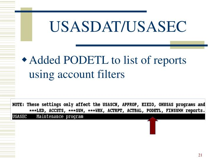 USASDAT/USASEC