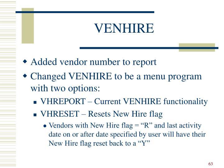 VENHIRE