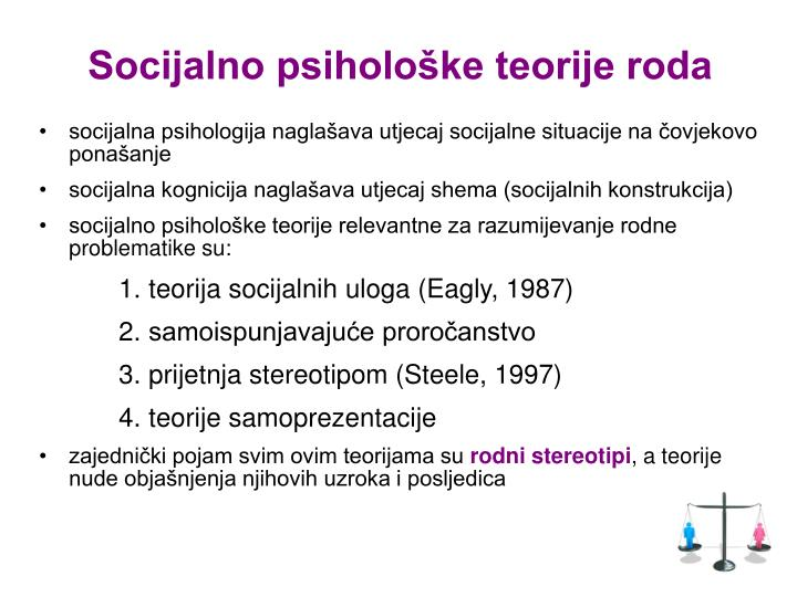Socijalno psihološke teorije roda
