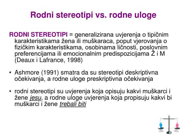 Rodni stereotipi vs. rodne uloge