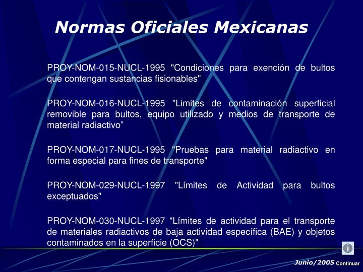 """PROY-NOM-015-NUCL-1995 """"Condiciones para exención de bultos que contengan sustancias fisionables"""""""