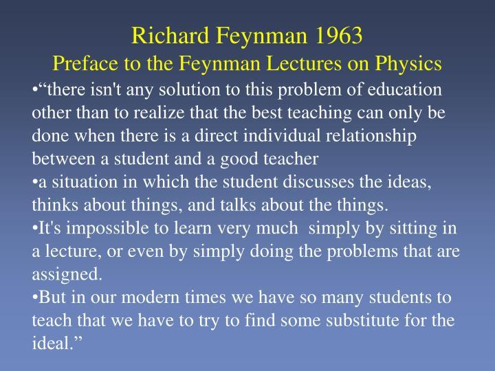 Richard Feynman 1963