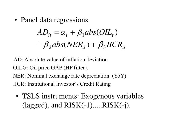 Panel data regressions