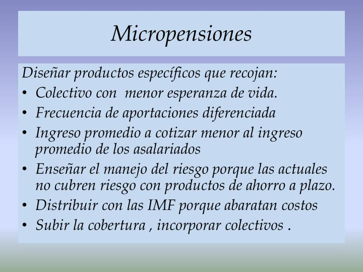 Micropensiones