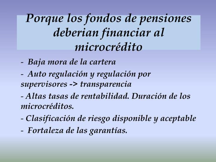 Porque los fondos de pensiones