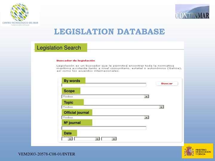 LEGISLATION DATABASE