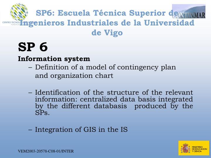 SP6: Escuela Técnica Superior de Ingenieros Industriales de la Universidad  de Vigo
