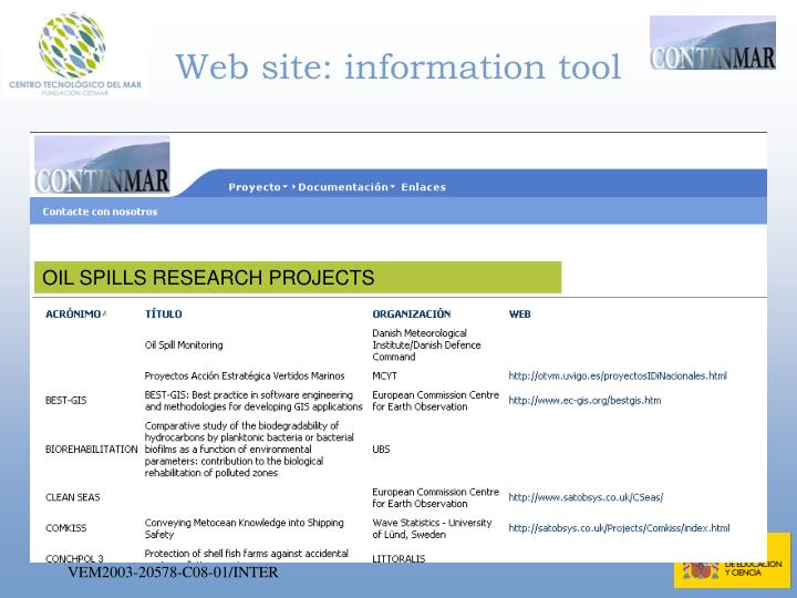 Web site: information tool