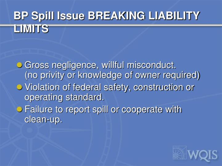 BP Spill Issue BREAKING