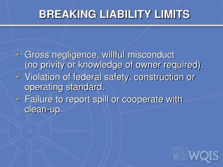BREAKING LIABILITY LIMITS