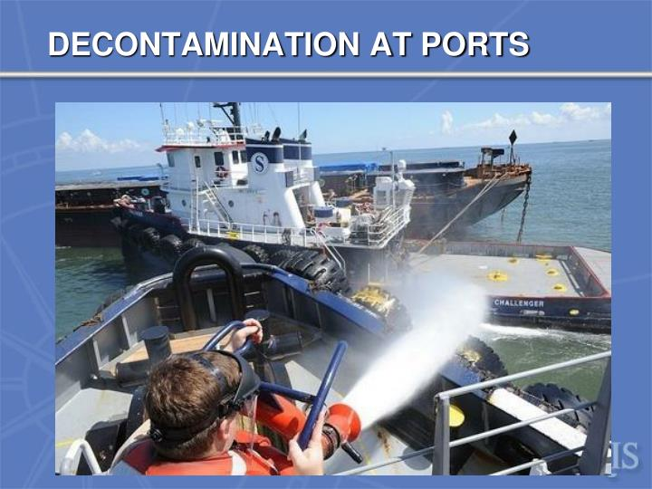 DECONTAMINATION AT PORTS