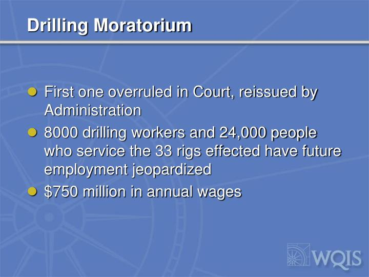 Drilling Moratorium