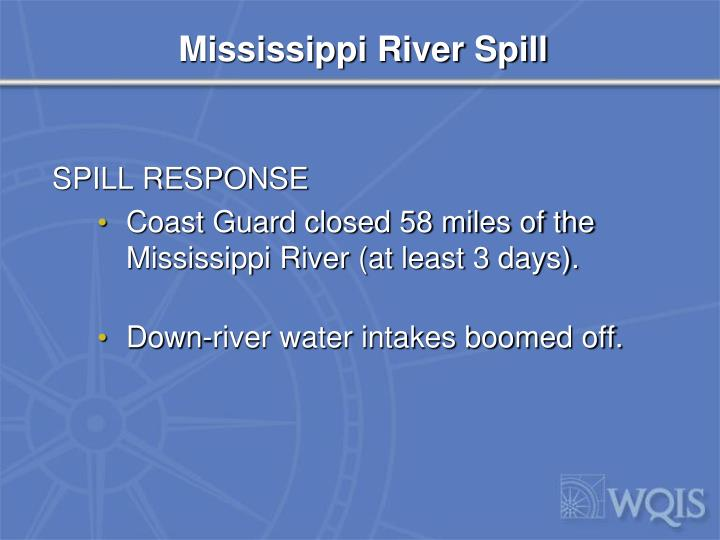 Mississippi River Spill