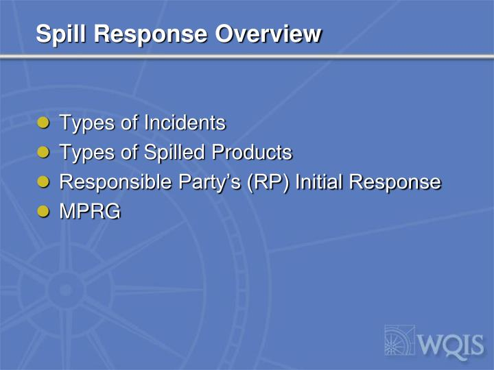 Spill Response Overview