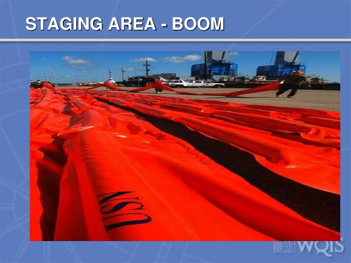 STAGING AREA - BOOM