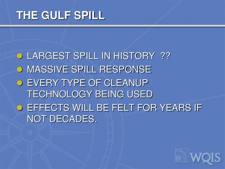 THE GULF SPILL