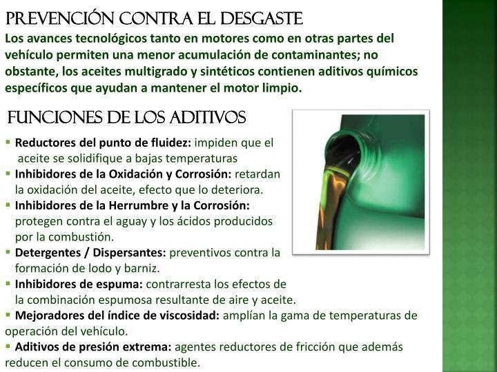 Prevención contra el desgaste