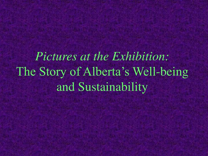 Pictures at the Exhibition: