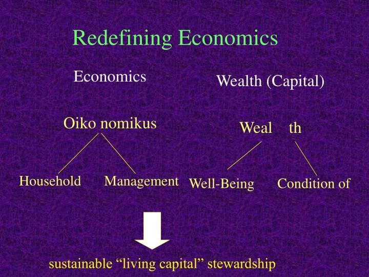 Redefining Economics