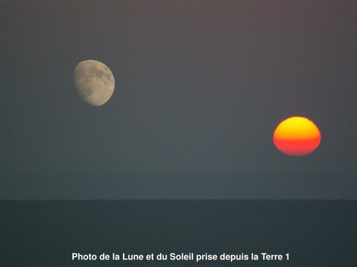 Photo de la Lune et du Soleil prise depuis la Terre 1