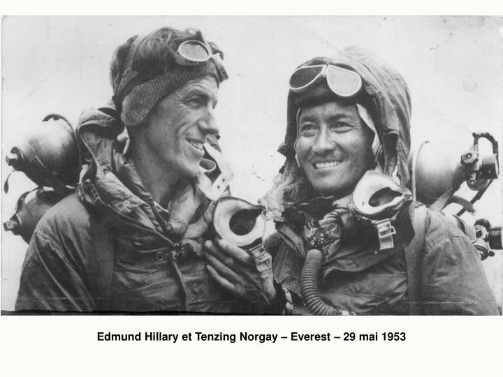 Edmund Hillary et Tenzing Norgay – Everest – 29 mai 1953