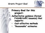 grants project goal