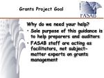 grants project goal1