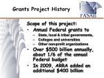 grants project history