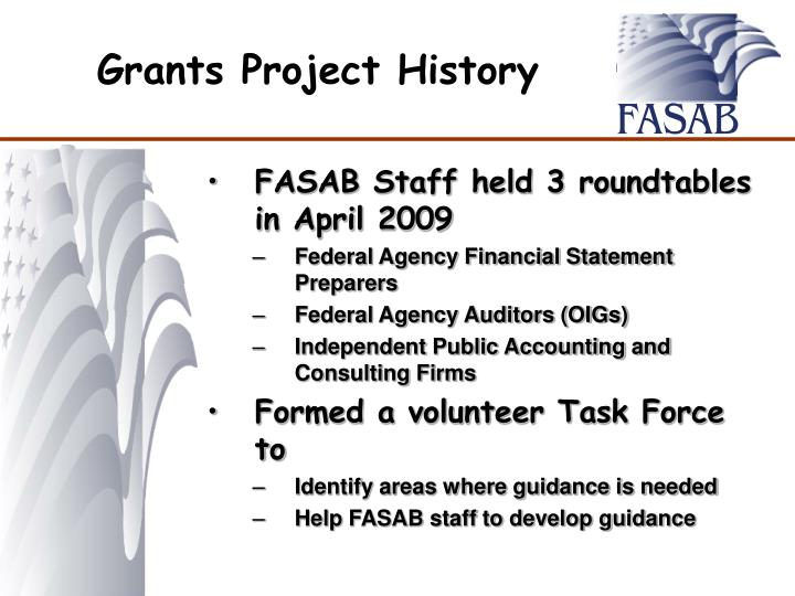 Grants Project History