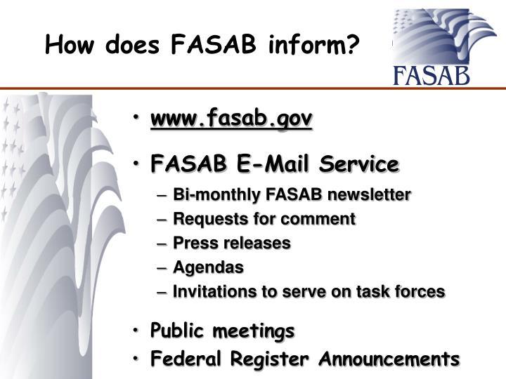 FASAB E-Mail Service