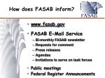 how does fasab inform