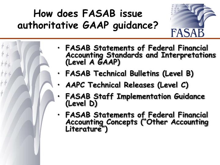 How does FASAB issue authoritative GAAP guidance?