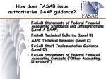 how does fasab issue authoritative gaap guidance
