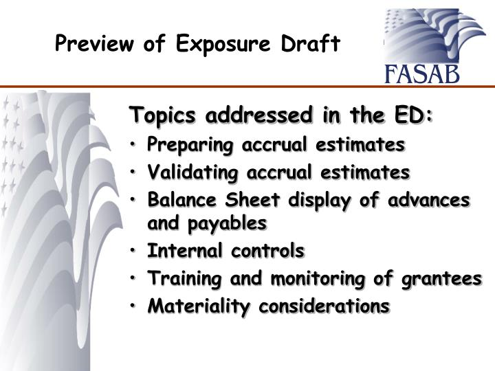 Preview of Exposure Draft