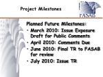 project milestones1
