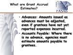 what are grant accrual estimates1