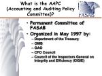 what is the aapc accounting and auditing policy committee
