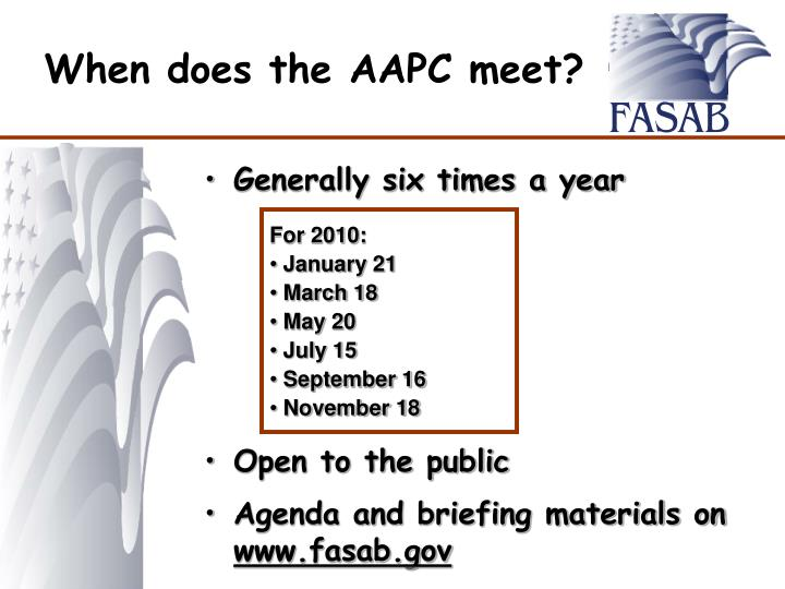 When does the AAPC meet?