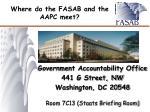 where do the fasab and the aapc meet