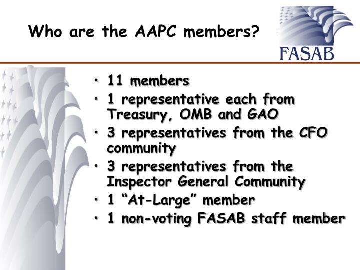 Who are the AAPC members?